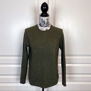 BARBOUR Lambswool Crewneck Sweater Dark Olive 12